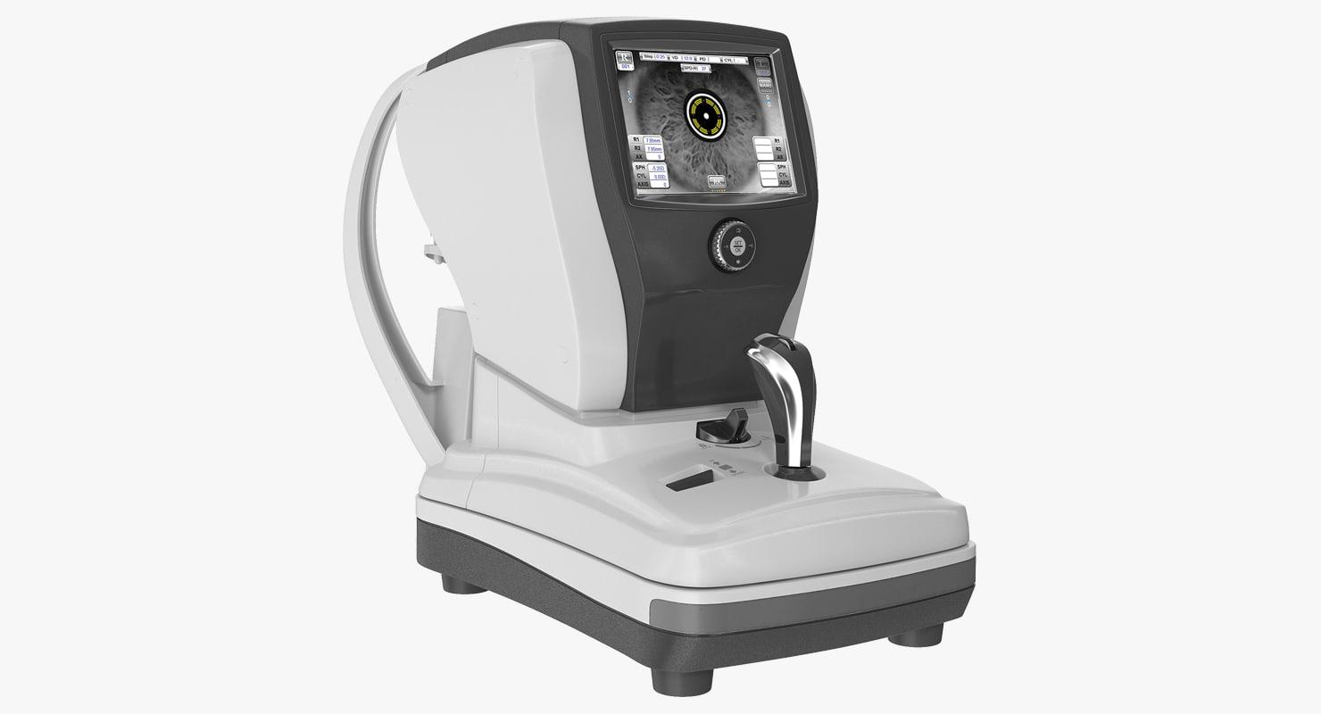 3D model refractometer keratometer