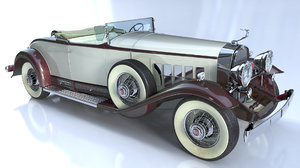 3D accurate 1931 cadillac roadster model
