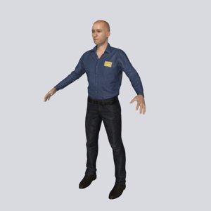 3D sales associate model