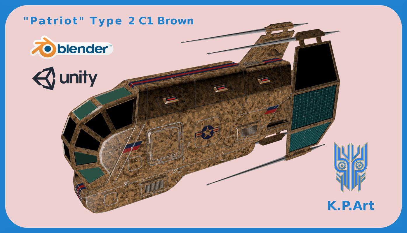 space ship patriot type model