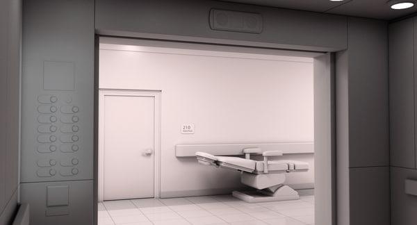 hospital hallway 2 3D model