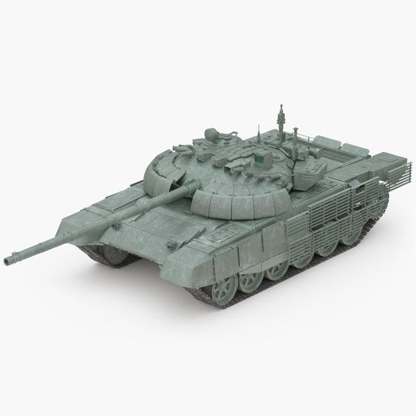 t-72b2 rogatka battle tank 3D model