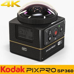 3D kodak pixpro sp360 4k model