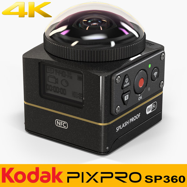 3D kodak pixpro sp360 4k model