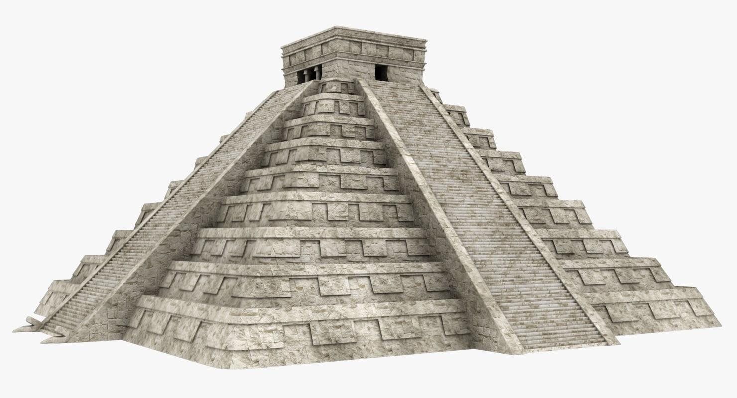 chichen itza pyramid 3D model