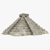 chichen itza pyramid 3D model
