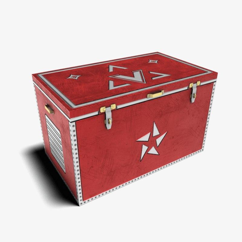 3D trunk treasures model