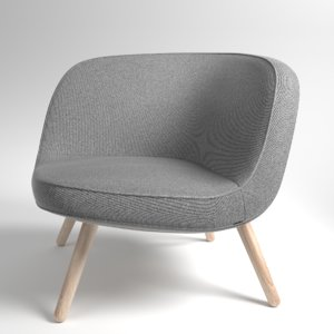 3D model interior fritzhansen via57 fabric
