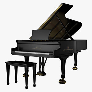 piano steinway 3D model