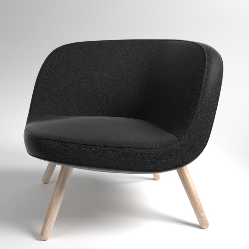 3D interior fritzhansen via57 fabric