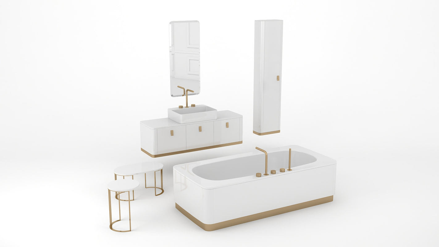 3d bathroom set tailor model turbosquid 1257517 for Arredi 3ds