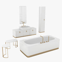 3D bathroom set tailor model