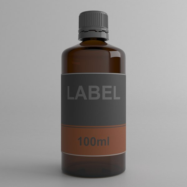 3D model 100ml bottle