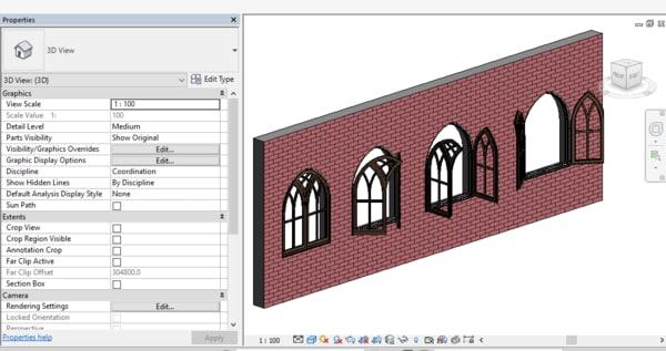 3D revit rotation model