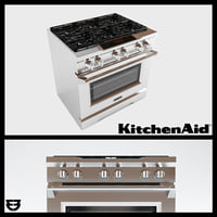 KitchenAid Range KDRS467VMW Oven 3d Model