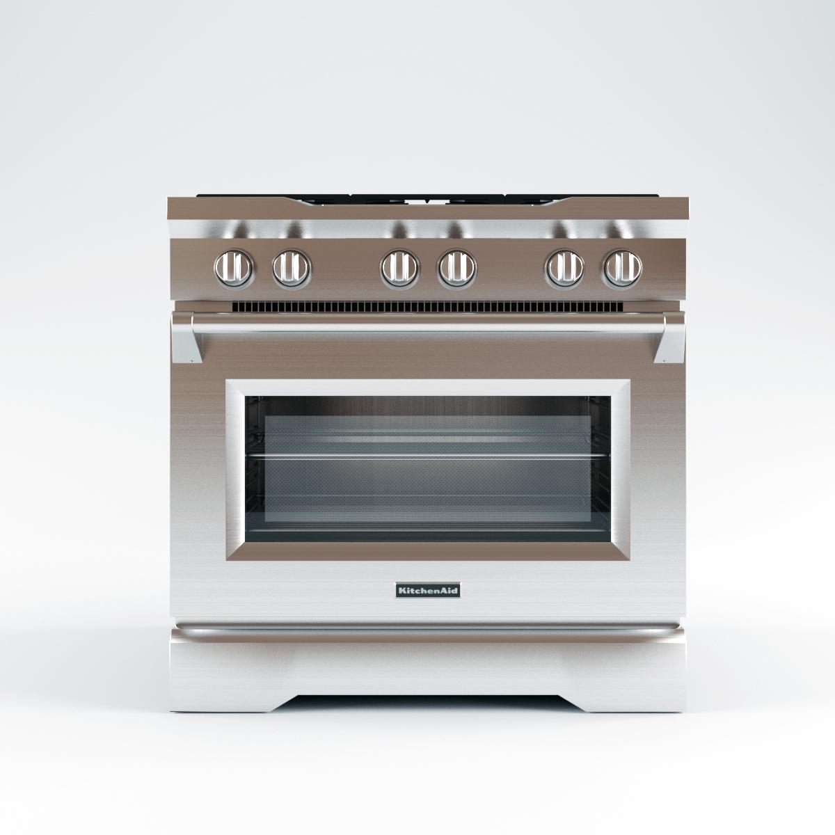 KitchenAid Range KDRS467VMW Oven 3d Model