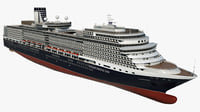 3D cruise ms eurodam ship model