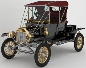 1912 t automobile modeled 3D model