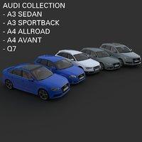audi cars sedan 3D model