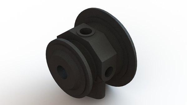 garrett gt2860r turbocharger bearing 3D model