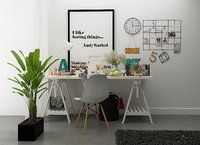 modern study table chairs set