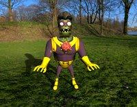 Super Brainz Zombie - Plants vs Zombies Garden Warfare - Zbrush High Poly