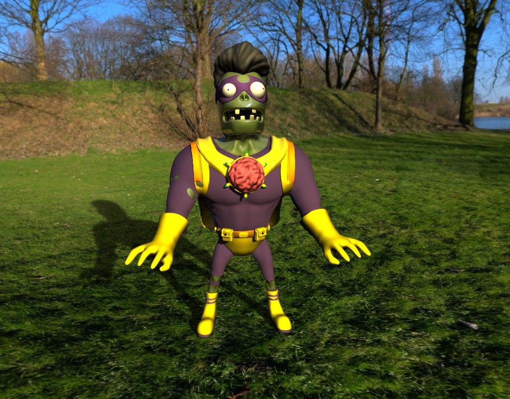 zombie - polys zbrush 3D model