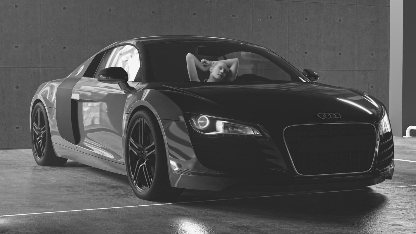 garage render redshift 3D model