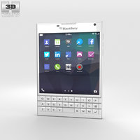 3D blackberry passport white