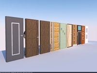 doors glass wood model