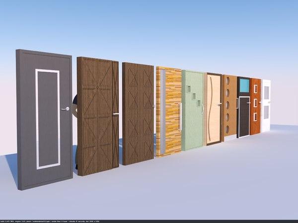 doors glass wood model