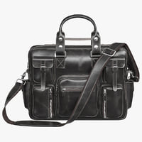 3D realistic bag leather