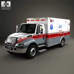 international durastar ambulance 3D model
