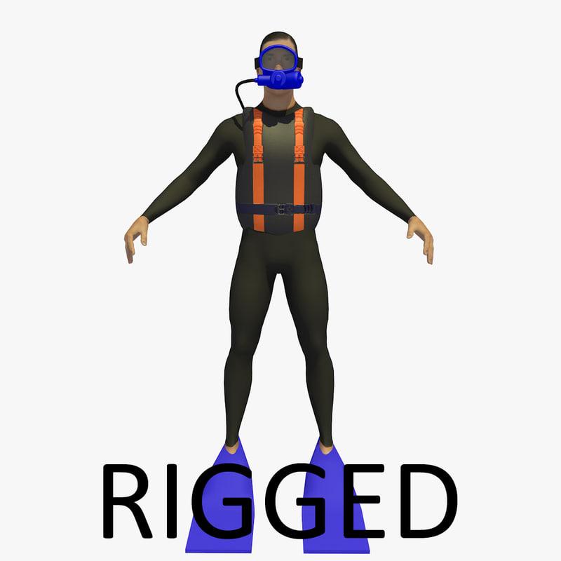 diver basic ik r15 3D