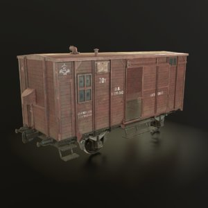 3D soviet union railroad car model