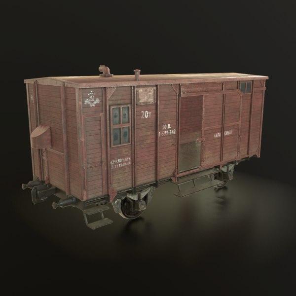 3D soviet union railroad car model