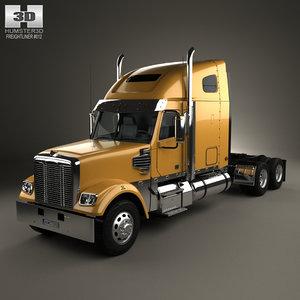 3D model freightliner coronado tractor
