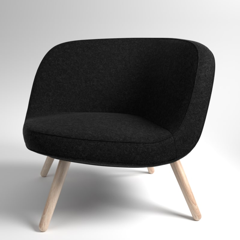 3D interior fritzhansen via57 fabric