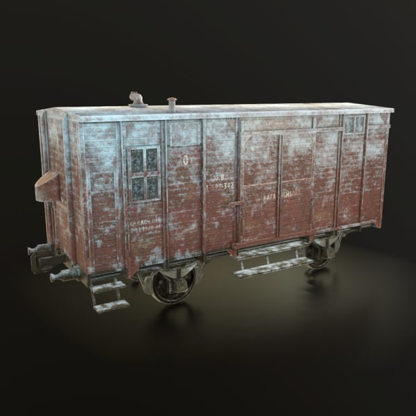 3D soviet union winter railroad model