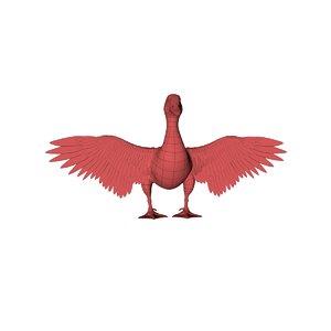 3D model base mesh duck