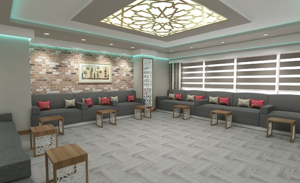 modern speech room furniture 3D
