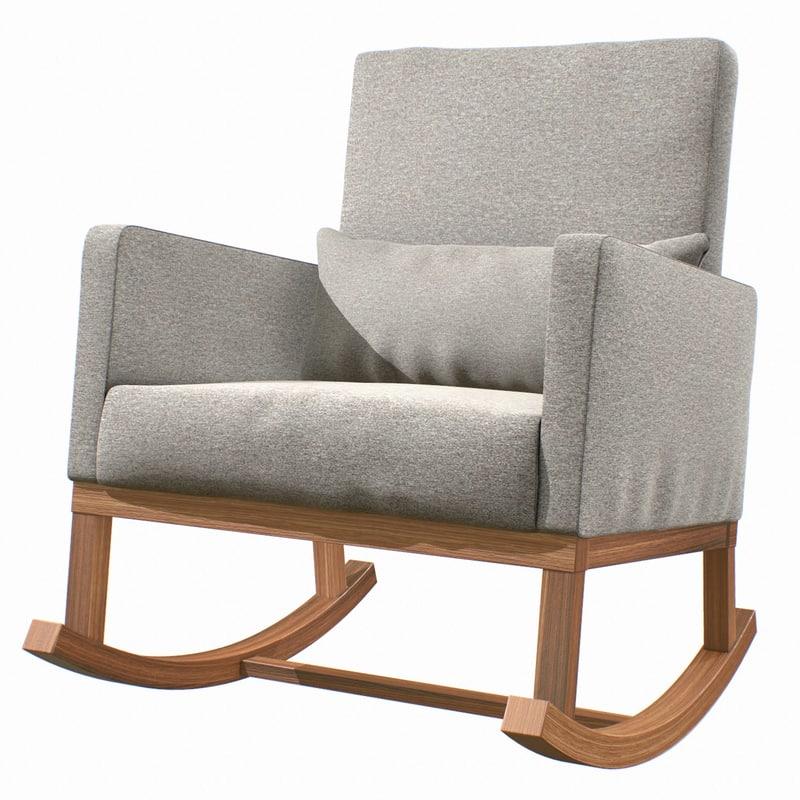 3D rocking chair fabric model