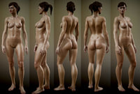 fully rigged nude female 3D model