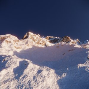 3D mountain snowy snow model