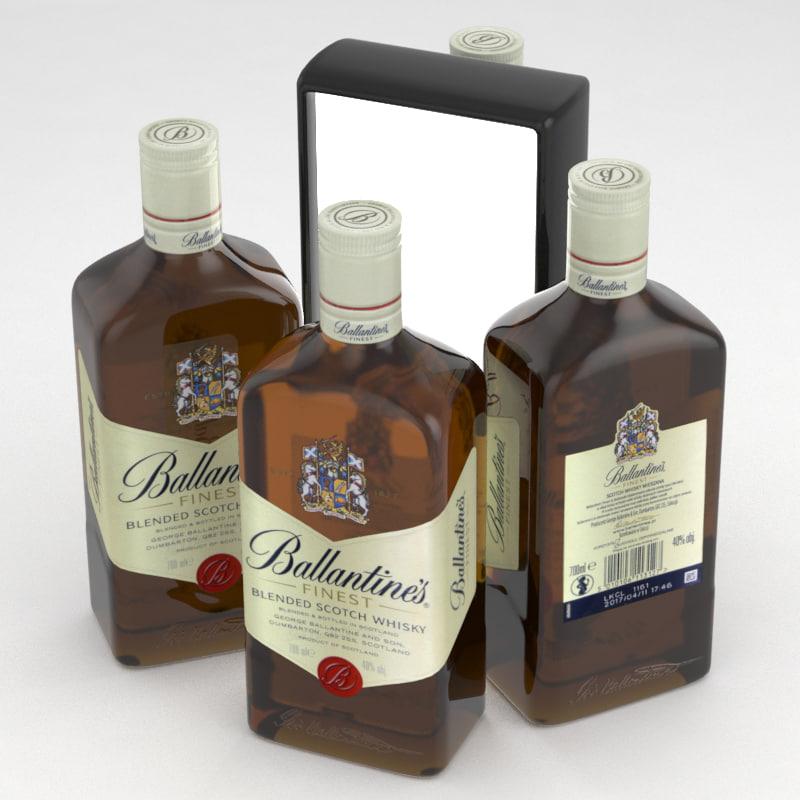 whisky ballantines 3D