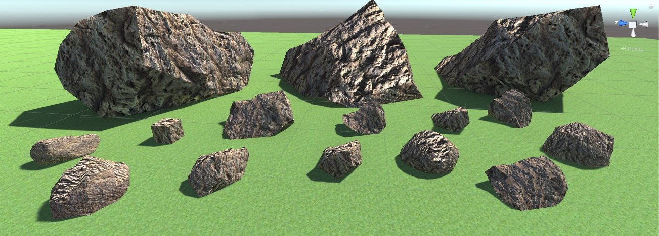 pedras stone 3D model
