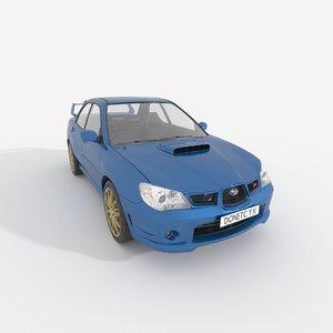 3D subaru impreza model