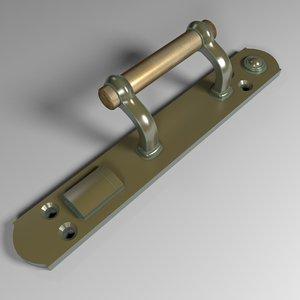 3D door handle century
