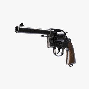 colt new service revolver 3D model