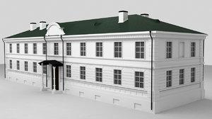 3D stone building end xviii
